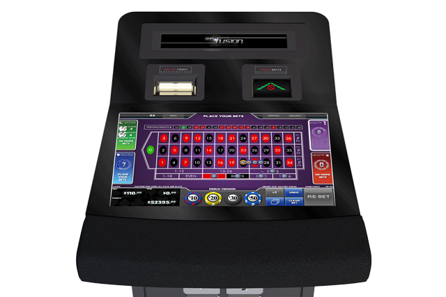 SHFL Fusion terminal for remote roulette and baccarat