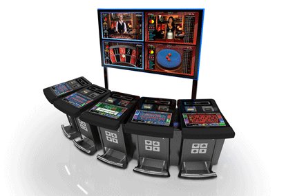 Terminals for remote game connection for roulette, baccarat and punto banco