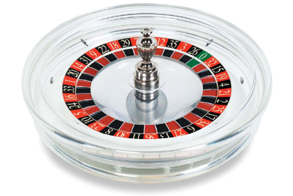 Acrylic transparent roulette wheel Crystal, from Cammegh
