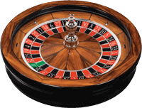 Cammegh Mercury 360 roulette wheel with Rosewood veneer