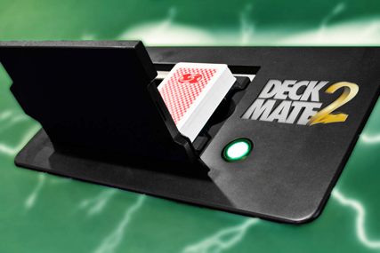 Shuffle Master Deck Mate 2 flush built professional shuffler, twice as fast and secure