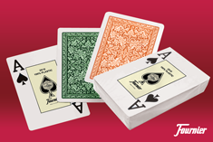 Fournier plastic playing cards for texas holdem