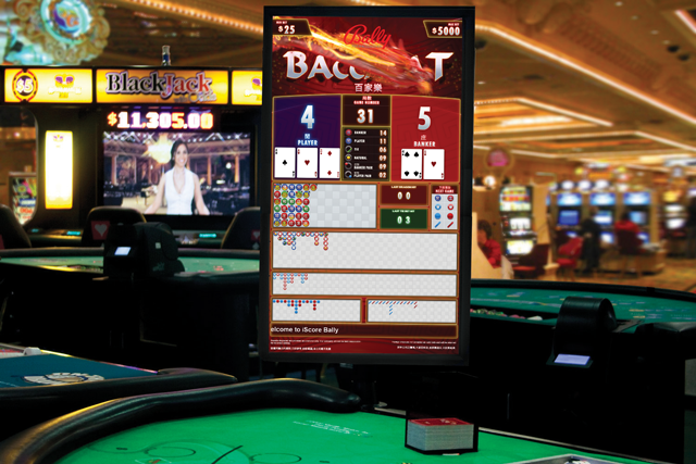 i-Score Baccarat Predictor display for trends, Baccarat statistics and scores